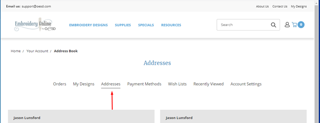 how to update your account address 5