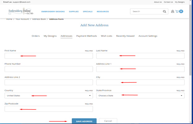 how to update your account address 6