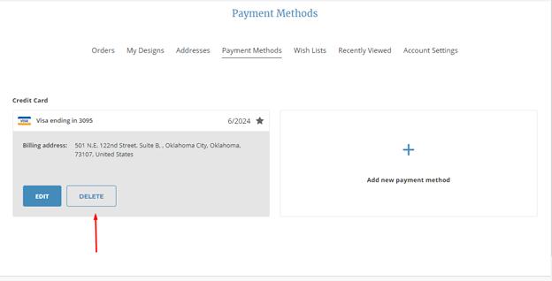 update payment method 10