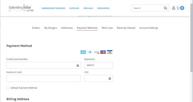 update payment method 7