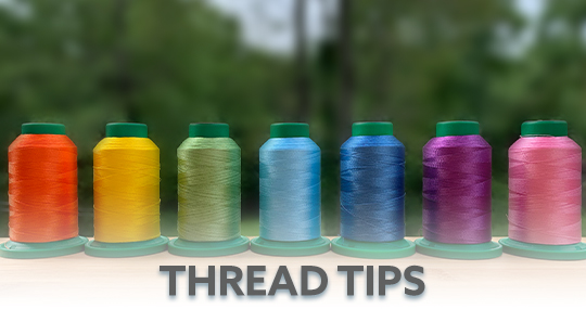 Machine Embroidery Thread Tips