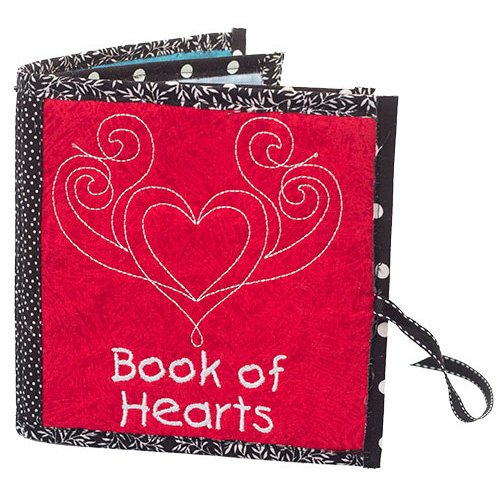 Book of Hearts children's machine embroidery project