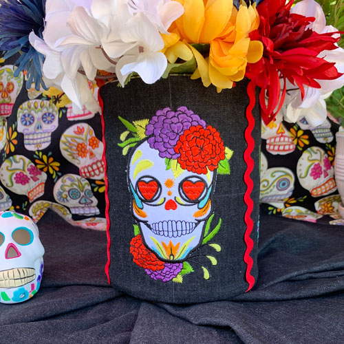 Day of the Dead Vase