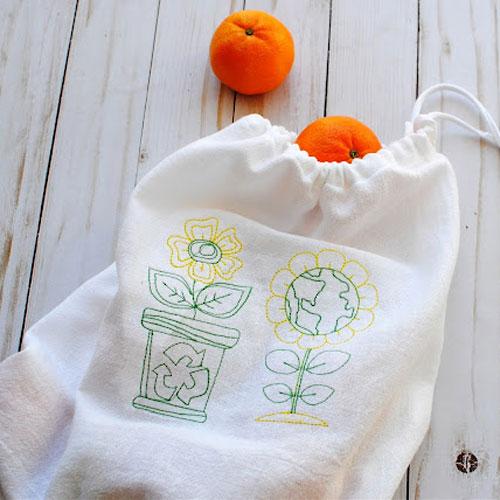 DIY Earth Day Reusable Produce Bags