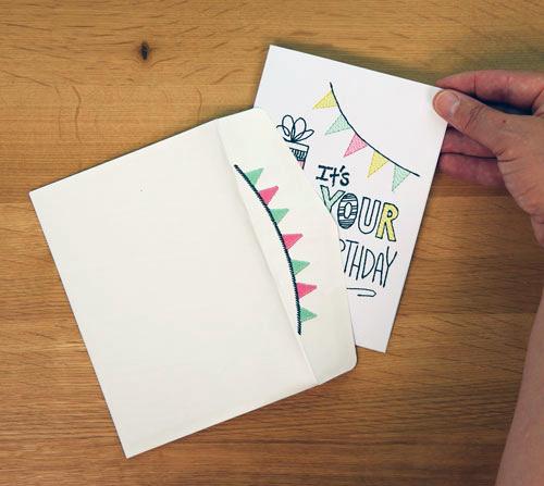 Garland Stitched Envelope 1