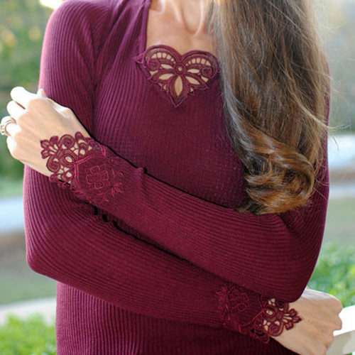 Embroidered Sweater Cuff