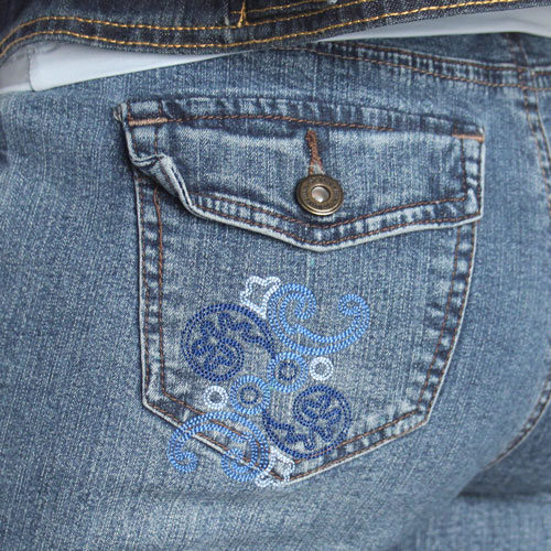 Chic Embellishments Denim Jacket and Jeans