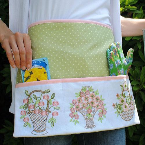 DIY Embroidered Garden Apron