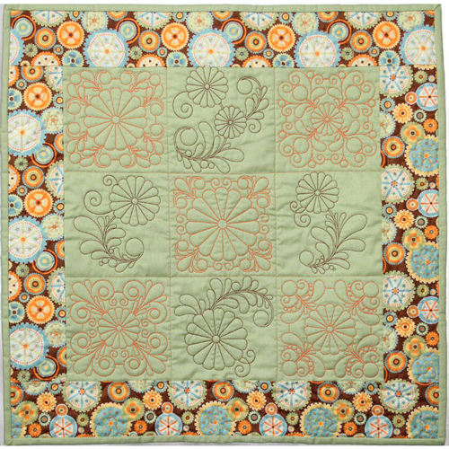 Quilting Feather Daisies Wall Hanging