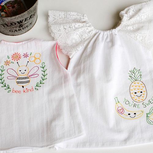 DIY Embroidered Flour Sack Dress